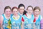 SUPER: The Jets team who were supersonic at the Basketball blitz in Currow Community Centre on Sunday were l-r: Aisling Moriarty, Sarah Courtney, Breda McMahon, Gillian Hannafin and Emer Horgan.   Copyright Kerry's Eye 2008