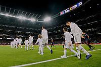 Real Madrid's Dani Carvajal, Raphael Varane and Toni Kroos during La Liga match between Real Madrid and Valencia CF at Santiago Bernabeu Stadium in Madrid, Spain. December 01, 2018. (ALTERPHOTOS/A. Perez Meca) /NortePhoto NORTEPHOTOMEXICO