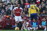 Pierre-Emerick Aubameyang of Arsenal and Yan Valery of Southampton during Arsenal vs Southampton, Premier League Football at the Emirates Stadium on 24th February 2019