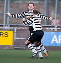 Paul Quinn (12) celebrates after he scores Shire's second goal  ...