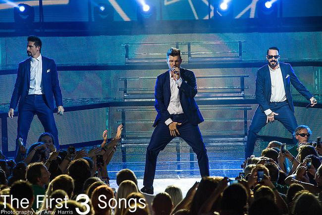 Nick Carter of the Backstreet Boys performs at Riverbend Music Center in Cincinnati, Ohio.