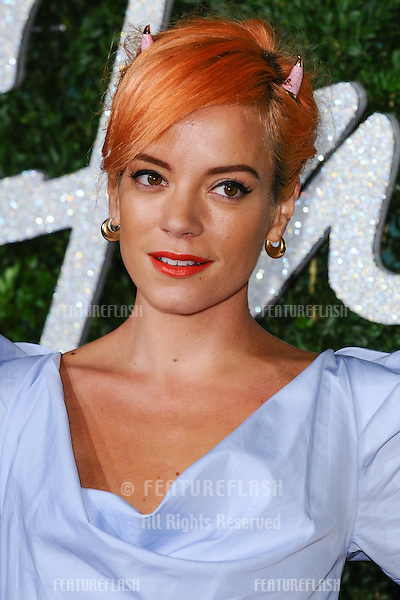 Lily Allen arrives for British Fashion Awards 2014 at the London Coliseum, Covent Garden, London. 01/12/2014 Picture by: Steve Vas / Featureflash