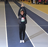 14th February 2020; Glasgow, Scotland;  Shelly-Ann Fraser-Pryce JAM at a pre-event photocall. Shelly-Ann Fraser-Pryce JAM 60m  Ten-time world champion, most recently winning 100m and 4x100m gold in Doha