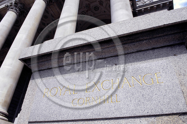 London - Great Britain / United Kingdom - 28 June 2008---Royal Exchange facade---architecture---Photo: Horst Wagner / eup-images