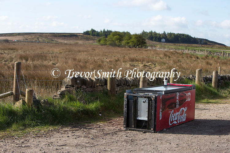 Fly tipping in the Derbyshire Peak District