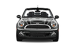 Car photography straight front view of a 2015 MINI Mini Cooper S 2 Door Convertible Front View