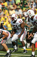 2 September 2006: Fred Campbell during Stanford's 48-10 loss to the Oregon Ducks at Autzen Stadium in Eugene, OR.