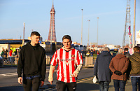 Sunderland fans arrive at Bloomfield Road<br /> <br /> Photographer Alex Dodd/CameraSport<br /> <br /> The EFL Sky Bet League One - Blackpool v Sunderland - Tuesday 1st January 2019 - Bloomfield Road - Blackpool<br /> <br /> World Copyright © 2019 CameraSport. All rights reserved. 43 Linden Ave. Countesthorpe. Leicester. England. LE8 5PG - Tel: +44 (0) 116 277 4147 - admin@camerasport.com - www.camerasport.com