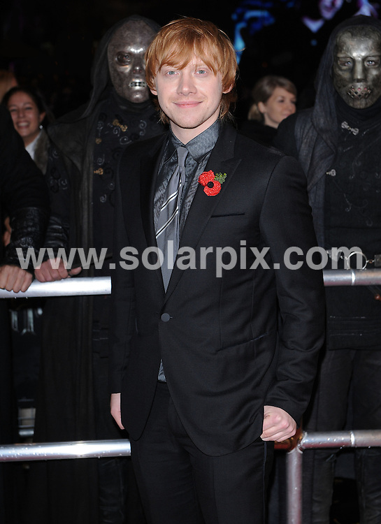 **ALL ROUND PICTURES FROM SOLARPIX.COM**                                             **WORLDWIDE SYNDICATION RIGHTS**                                                                                  Red carpet arrivals at the World Premiere of Harry Potter and The Deathly Gallows.  Held at the Odeon Leicester Square and Empire Leicester Square in London, on Thursday November 11, 2010.                                                                            This pic:  Rupert Grint                                                                      .JOB REF:     12464   SSD       DATE:      11.11.10                                                      **MUST CREDIT SOLARPIX.COM OR DOUBLE FEE WILL BE CHARGED**                                                                      **MUST AGREE FEE BEFORE ONLINE USAGE**                               **CALL US ON: +34 952 811 768 or LOW RATE FROM UK 0844 617 7637**
