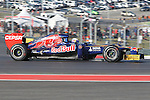 Daniel Ricciardo (16) driver of the Scuderia Toro Rosso Ferrari in action during the Formula 1 United States Grand Prix practice session at the Circuit of the Americas race track in Austin,Texas. The Formula 1 United States Grand Prix will take place on 18 November 2012....