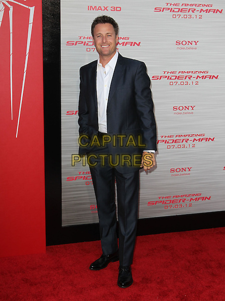 "Chris Harrison.Los Angeles Premiere Of ""The Amazing Spider-Man"" Held The at Regency Village Theatre, Westwood, California, USA..June 28th, 2012.full length black grey gray suit white shirt  .CAP/ADM/FS.©Faye Sadou/AdMedia/Capital Pictures."