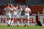 kollektiver Torjubel  nach dem Tor <br />zum 1-1 von Rouwen HENNINGS (2.v.li Fortuna Duesseldorf).<br />Re:Jeffrey GOUWELEEUW (Augsburg).<br />Fussball 1. Bundesliga, 33.Spieltag, Fortuna Duesseldorf (D) -  FC Augsburg (A), am 20.06.2020 in Duesseldorf/ Deutschland. <br /><br />Foto: AnkeWaelischmiller/Sven Simon/ Pool/ via Meuter/Nordphoto<br /><br /># Editorial use only #<br /># DFL regulations prohibit any use of photographs as image sequences and/or quasi-video #<br /># National and international news- agencies out #