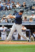 Tampa Bay Rays first baseman Casey Kotchman #11 during a game against the New York Yankees at Yankee Stadium on September 21, 2011 in Bronx, NY.  Yankees defeated Rays 4-2.  Tomasso DeRosa/Four Seam Images