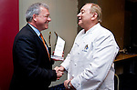 "BRUSSELS - BELGIUM - 24 March 2015 -- BOGK - German Association of the Fruit, Vegetable and Potato Processing Industry - Award ceremony ""Ambassador of Good Taste"". -- MEP Markus FERBER, Group of the European People's Party (Christian Democrats - Germany) and award receiver Alfons SCHUHBECK, Restaurateur, one of Germany's top chefs.  -- Photo: Juha ROININEN / EUP-IMAGES"
