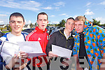RESULT: Jack O'Brien, Brendan's Park, Jamie O'Sullivan, Gallowsfield, Ciara?n Murphy, Ballyseedy and Brian Fitzgerald, the Spa, Leaving Cert students from Mercy Mounthawk Secondary School who got their results on Wednesday.