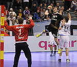 15.01.2013 Granollers, Spain. IHF men's world championship, prelimanary round. Picture show Michael Haass   in action during game between Germany v Argentina at Palau d'esports de Granollers