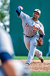 16 March 2014: Detroit Tigers pitcher Jose Ortega on the mound during a Spring Training Game against the Washington Nationals at Space Coast Stadium in Viera, Florida. The Tigers edged out the Nationals 2-1 in Grapefruit League play. Mandatory Credit: Ed Wolfstein Photo *** RAW (NEF) Image File Available ***