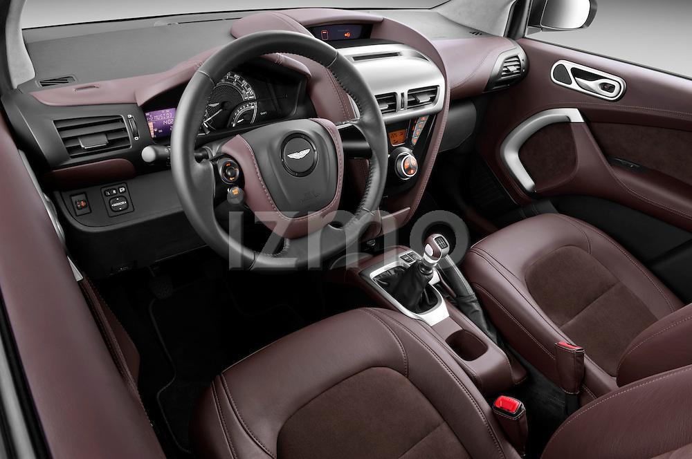 High angle dashboard view of a 2011 - 2013 Aston Martin Micro Car.