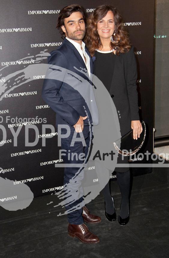 08/04/2013. Madrid. spain. Roberta Armani opens a new Emporio Armani Store in Serrano Street in Madrid.<br /> Osorio ; Roberta Armani