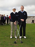Captain Joseph O'Toole and Lady Captain Kathleen Moore pictured at the Captain's Drive In at Laytown & Bettystown Golf Club. Photo: Colin Bell/pressphotos.ie