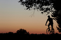 Sam Behr sunset silhouette , Surrey September 2011 pic copyright Steve Behr / Stockfile