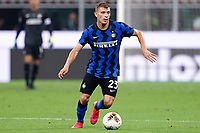 Nicolo Barella of FC Internazionale in action during the Serie A football match between FC Internazionale and SSC Napoli at San Siro stadium in Milano (Italy), July 28th, 2020. Play resumes behind closed doors following the outbreak of the coronavirus disease. Photo Marco Canoniero / Insidefoto
