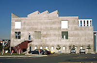 Frank Gehry: ICS/ERF Complex, U.C. Irvine, 1984. West elevation, Engineering Research Facility.  Photo '86.