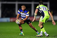 Jonathan Joseph of Bath Rugby in possession. Aviva Premiership match, between Bath Rugby and Sale Sharks on October 7, 2016 at the Recreation Ground in Bath, England. Photo by: Patrick Khachfe / Onside Images