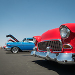Rotary Club of Ione's first Show and Shine Aircraft and Car show at the Eagles Next airpark, Carbondale, Calif.<br /> <br /> Mid 1950s Chevys