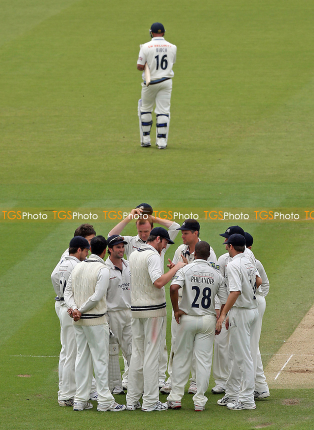 Middlesex celebrate the wicket of Dan Birch (top) as he returns to the pavilion - Middlesex CCC vs Derbyshire CCC - LV County Championship Division Two at Lord's Ground - 01/06/08 - MANDATORY CREDIT: Gavin Ellis/TGSPHOTO - Self billing applies where appropriate - Tel: 0845 094 6026