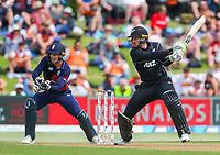 New Zealand's Martin Guptil.  Black Caps v England, second international cricket ODI, Bay Oval, Tauranga, New Zealand. Wednesday, 28 February, 2018. Copyright photo: John Cowpland / www.photosport.nz