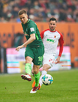 Niklas MOISANDER, BRE 18  ,   -  Tim MATAVZ, FCA 23 <br /> FC AUGSBURG -  SV WERDER BREMEN  1-3<br /> Football 1. Bundesliga , Augsburg,17.03.2018, 27. match day,  2017/2018, 1.Liga, 1.Bundesliga, <br />  *** Local Caption *** © pixathlon<br /> Contact: +49-40-22 63 02 60 , info@pixathlon.de