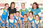Kilmurry National School who defeated Castleisland Presentation 16  12 in the Senior A Girls District National School at the St Marys Christmas Basketball Blitz which was held in the Castleisland Community Centre on Saturday.Front row L/R: Margaret McCarty, Eilish OCallaghan, Rachel Templeman, Back Row: Siobhan Brosnan, Kay Prenderville, Samantha Roche, Aileen Cullnane, Seline McCarty, and Brid Kenny..