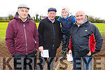 Martin Galvin (Lixnaw), Maurice and Eamon O'Connor (Ballyduff) and Tom Guerin (Abbeydorney) at the Castleisland Coursing meeting on Monday.