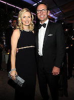 BEVERLY HILLS, CA - JANUARY 11: James Murdoch, Chief Operating Officer of 21st Century Fox and wife Kathryn Murdoch Hufschmid attend the FOX 2015 Golden Globe Awards party at the Fox Pavilion on January 11, 2015 in Beverly Hills, California. FMPG/MediaPunch
