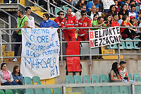 Supporters of Italy<br /> Palermo 08-10-2019 Stadio Renzo Barbera <br /> UEFA Women's European Championship 2021 qualifier group B match between Italia and Bosnia-Herzegovina.<br /> Photo Carmelo Imbesi / Insidefoto