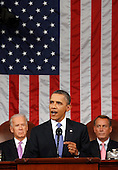United States President Barack Obama addresses a joint session of the United States Congress on the subject of job creation on Capitol Hill in Washington, September 8, 2011.    .Credit: Kevin Lamarque / Pool via CNP.