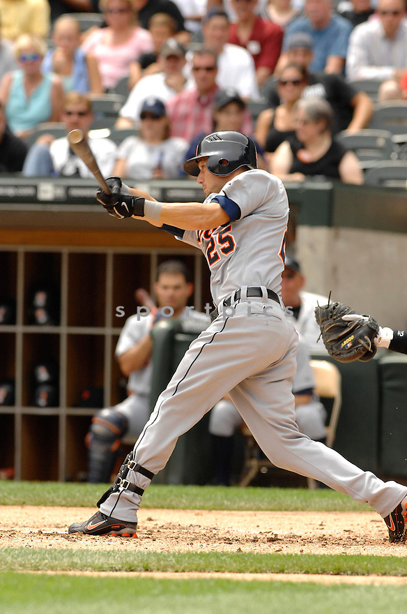 RYAN RABURN, of the Detroit Tigers, in action during the Tigers game against the Chicago White Sox in Chicago, IL on July 26, 2007...White Sox win 4-3..DAVID DUROCHIK / SPORTPICS...