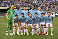 Manchester City Starting XI.Manchester City defeated Chelsea 4-3 in an international friendly at Busch Stadium, St Louis, Missouri.