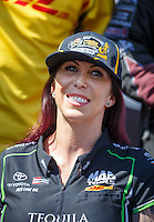 Sep 18, 2016; Concord, NC, USA; NHRA funny car driver Alexis DeJoria during the Carolina Nationals at zMax Dragway. Mandatory Credit: Mark J. Rebilas-USA TODAY Sports