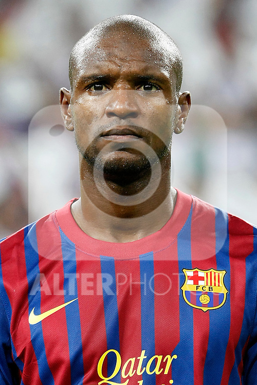 FC Barcelona's Eric Abidal during Spanish Supercup 1st match.August 14,2011. (ALTERPHOTOS/Acero)