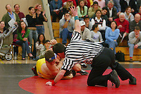 23 November 2004: Scott Loescher during Stanford's wrestling match against USF in the Ford Center in Stanford, CA.