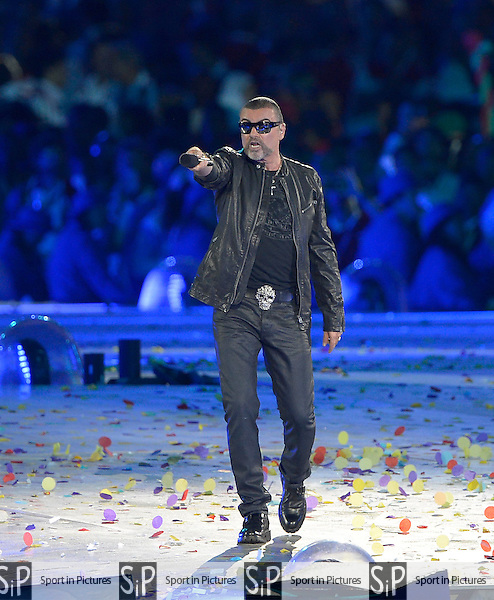George Michael. Closing Ceremony - PHOTO: Mandatory by-line: Garry Bowden/SIP/Pinnacle - Photo Agency UK Tel: +44(0)1363 881025 - Mobile:0797 1270 681 - VAT Reg No: 768 6958 48 - 12/08/2012 - 2012 Olympics - Olympic Stadium, Olympic Park, London, England.