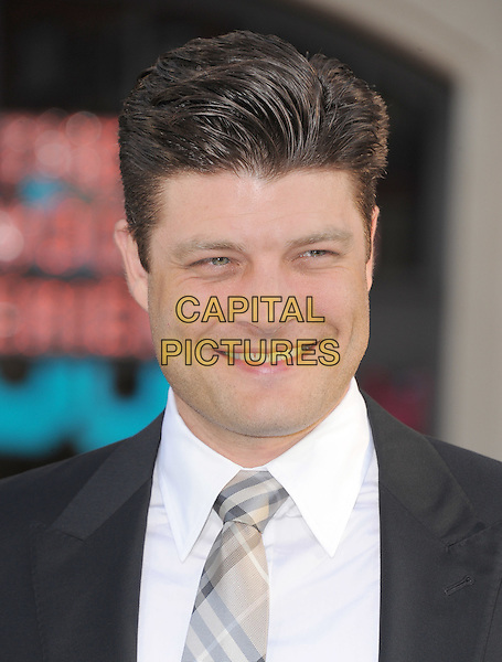 Jay R. Ferguson.The L.A. Premiere of 'The Lucky One' held at The Grauman's Chinese Theatre in Hollywood, California, USA..April 16th, 2012.headshot portrait white grey gray tie shirt .CAP/RKE/DVS.©DVS/RockinExposures/Capital Pictures.