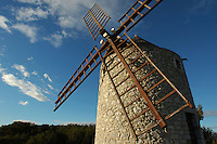 Traditional stone windmill in Les Pennes-Mirabeau, Provence, France.