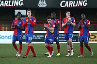 Dagenham players thank the fans during Dagenham & Redbridge vs Sutton United, Vanarama National League Football at the Chigwell Construction Stadium on 23rd February 2019