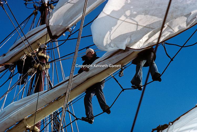 Square Rigger; Sail race, Operation Sail Tall Ships; Sail Training Association; US Bicentennial; Atlantic Ocean; adventure; STA, 1976, Seamanship, cadet training