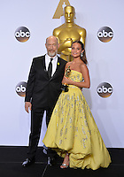 J.K. Simmons &amp; Alicia Vikander at the 88th Academy Awards at the Dolby Theatre, Hollywood.<br /> February 28, 2016  Los Angeles, CA<br /> Picture: Paul Smith / Featureflash