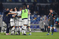 Parma Calcio 1913 celebrates at the end of the match<br /> Napoli 14-12-2019 Stadio San Paolo <br /> Football Serie A 2019/2020 <br /> SSC Napoli - Parma Calcio 1913<br /> Photo Cesare Purini / Insidefoto
