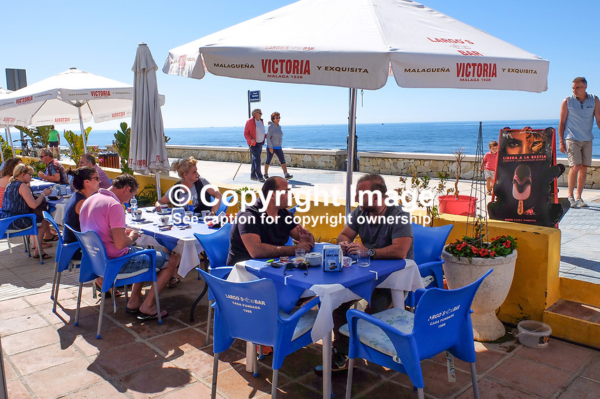 Cafe, bar, restaurant, coast, San Pedro de Alcantara, Marbella, Spain, Mediterranean, 201705013544<br />